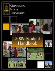 Student Handbook - Grambling State University
