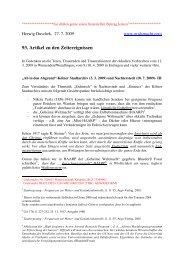 93. Artikel zu den Zeitereignissen - Gralsmacht