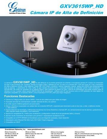 GXV3615WP_HD - Grandstream Networks