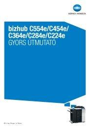 Konica Minolta Bizhub C224e Felhasználói kézikönyv