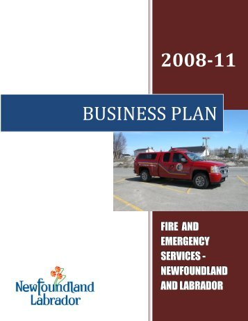 FES Business Plan 2008-11 - Government of Newfoundland and ...