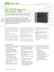 K2 RAID Server Storage 10G - Grass Valley