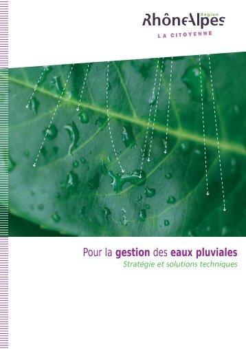 Pour la gestion des eaux pluviales - Stratégie et solutions ... - Graie