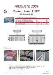 PREISLISTE 2009 - BG Graspointner GmbH & Co KG