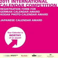 Calendar COmPeTITIOn 2011 InTernaTIOnal - Graphische Klub ...