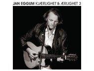 JAN EGGUM KJÆRLIGHET & ÆRLIGHET 3 - Grappa Musikkforlag