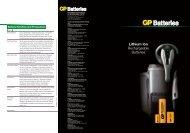 Battery Handling and Precautions - GP Batteries