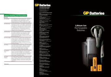 Battery Handling and Precautions - GP Batteries