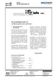 StZ 2.2 ifz-info Die schalldämmende Tür - Grauthoff