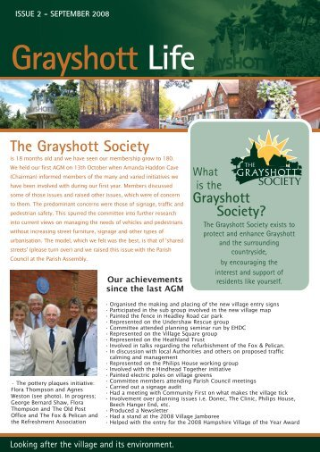 Issue 2 - September 2008 - Grayshott