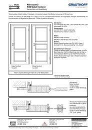 5.4 Wohnraumtür HGM Modell Nordland - Grauthoff