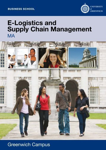 E-Logistics and Supply Chain Management - University of Greenwich