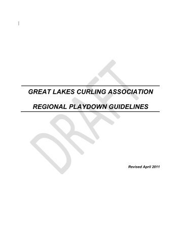 great lakes curling association regional playdown guidelines