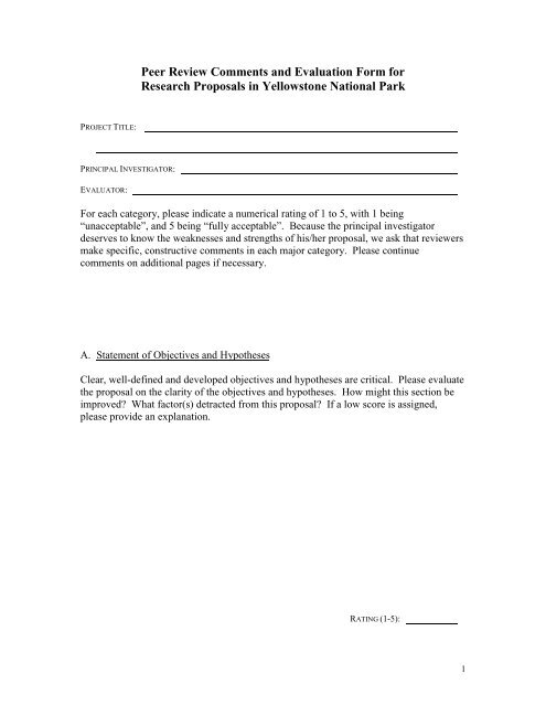 evaluation form comments  Peer Review Comments and Evaluation Form for - Greater ...