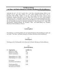 Gebührenordnung zur Haus- und Badeordnung des ... - Grebenhain
