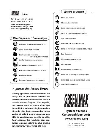 Sites d'expressions musicales - Green Map System