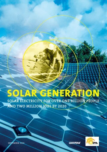 SOLAR GENERATION - Solar electricity for over one billion people ...
