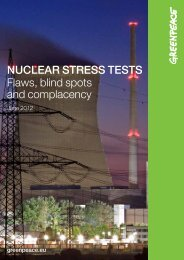 Nuclear StreSS teStS Flaws, blind spots and ... - Greenpeace