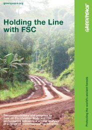 Holding the Line with FSC - Greenpeace