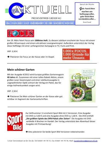 Mein schöner Garten - Pressevertrieb Greiser KG