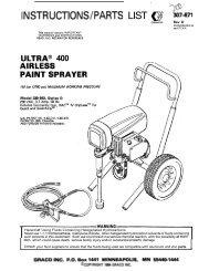 307671D ULTRA 400 AIRLESS PAINT SPRAYER - Graco Inc.