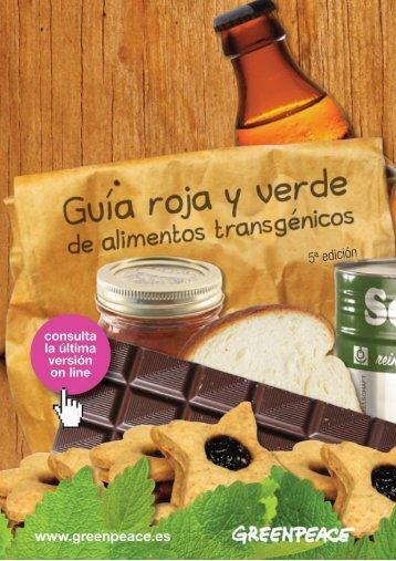 Guía roja y verde de alimentos transgénicos 5ª ... - Greenpeace
