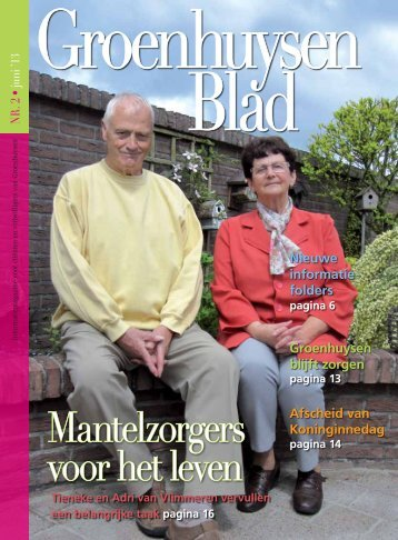 Mantelzorgers voor het leven - Stichting Groenhuysen