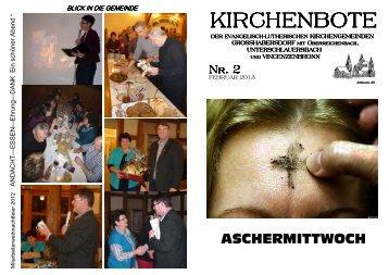 Februar - Evangelischen Kirchengemeinde Großhabersdorf