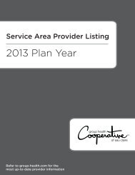 Provider Directory - Group Health Cooperative of Eau Claire