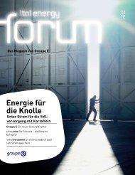 Energie für die Knolle - Groupe E