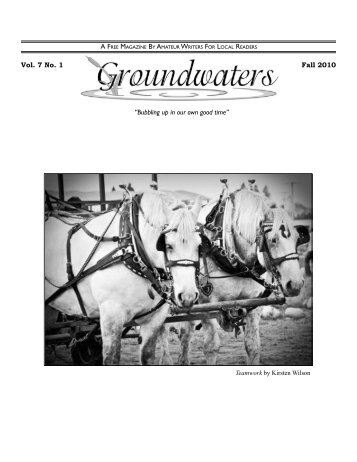 Volume 7 Issue 1 - Groundwaters Publishing