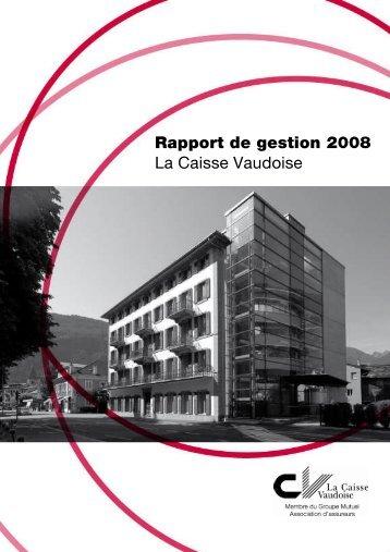 La Caisse Vaudoise 2008 - PDF - Groupe Mutuel