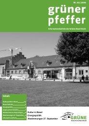 Ausgabe September 2009 - Grüne Partei Basel-Stadt