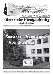 "Kinderhaus ""Hummelburg"" feiert Geburtstag - Großpostwitz"