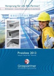 Preisliste 2013 als PDF downloaden - BG Graspointner GmbH & Co ...