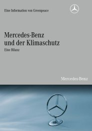 Mercedes-Benz und der Klimaschutz - Greenpeace-Gruppe Stuttgart