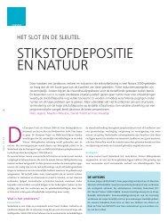 Artikel 'Stikstofdepositie en natuur' - Grontmij