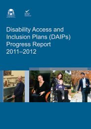 Progress Report 2011–2012 - Disability Services Commission