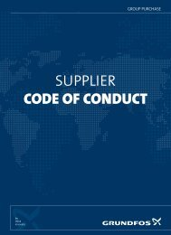 SUPPLIER CODE OF CONDUCT - Grundfos