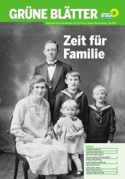 Zeit für Familie - BÜNDNIS 90/DIE GRÜNEN Baden-Württemberg