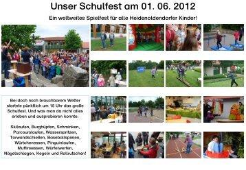 Schulfest 2012 - Grundschule Heidenoldendorf
