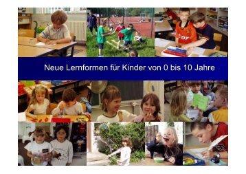 Neue Lernformen für Kinder von 0 bis 10 Jahre - Universität Bremen