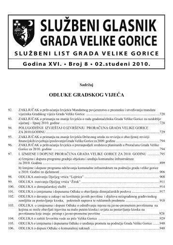 Slu?beni glasnik 08/2010 - Grad Velika Gorica