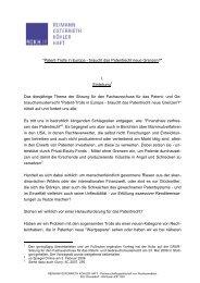 Rede von Herrn RA Prof. Dr. Christian Osterrieth - GRUR