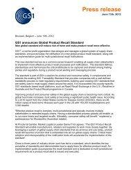 GS1 announces Global Product Recall Standard - Logistics ...
