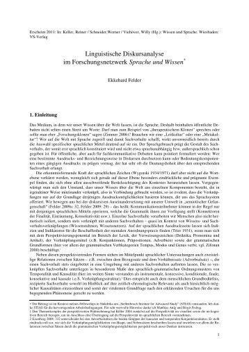 Linguistische Diskursanalyse im Forschungsnetzwerk Sprache und ...