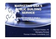 MARKETING GSA'S PUBLIC BUILDING SERVICE Your FAS ...