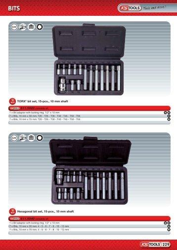 TORX® bit set, 15-pcs., 10 mm shaft Hexagonal bit ... - gs bilprodukter