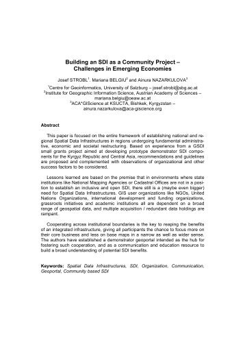 Building an SDI as a Community Project - Global Spatial Data ...