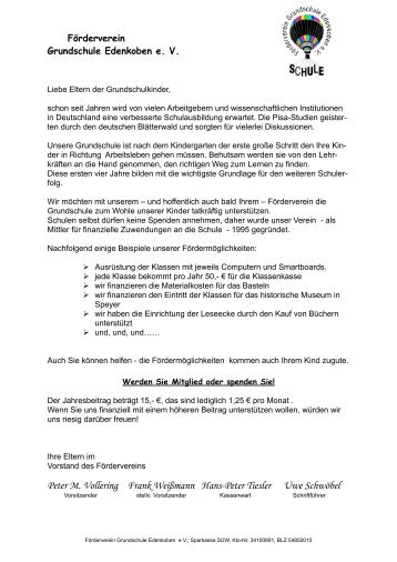 Beitrittserklärung - Grundschule Edenkoben
